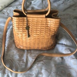 Fossil woven leather small handbag